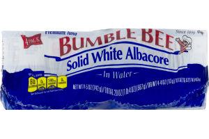 Bumble Bee Solid White Albacore Premium Tuna In Water - 4 PK