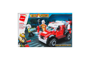 Конструктор для детей от 3лет №2801-2804 в ассортименте Пожарная служба Qman 1шт