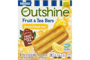 Outshine Fruit & Tea Bars Lemon Black Tea - 6 CT