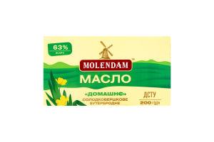 Масло 63% сладкосливочное бутербродное Домашнее Molendam м/у 200г