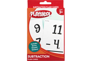 Playskool Ages 3+ Subtraction Flash Cards