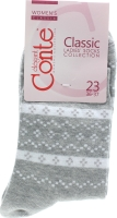 CONTE Шкарпетки жіночі Classic 15С-15СП р.23 062 сірий