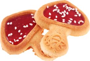 Печенье Delicia Мухоморчики вкус черн смор коррекс