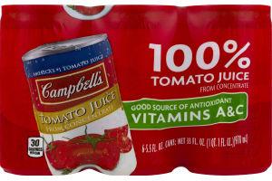 Campbell's 100% Tomato Juice - 6 PK