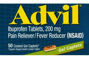 Advil Ibuprofen Gel Caplets - 50 CT