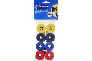 Companion Dog Waste Bag Refills - 120 CT