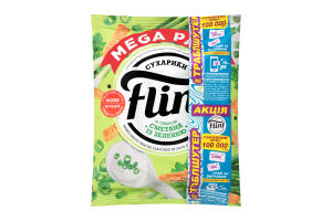 Сухарики пшенично-житні зі смаком сметани із зеленню Flint м/у 110г