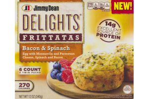 Jimmy Dean Delights Frittatas Bacon & Spinach - 6 CT