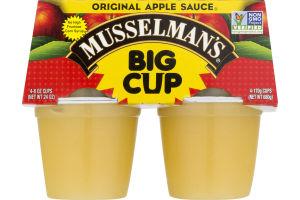 Musselman's Big Cup Apple Sauce Original - 4 CT