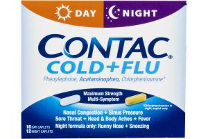 Contac Cold + Flu Maximum Strength Multi-Symptom - 28 CT