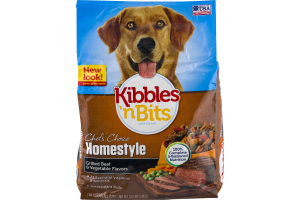 Kibbles 'n Bits Dog Food Chef's Choice Homestyle Grilled Beef & Vegetable