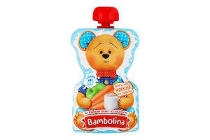 Пюре для дітей від 6міс Яблуко-морква-вершки Bambolina д/п 90г