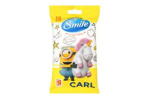 Серветки вологі Smile Ліцензійні герої 15шт. х52