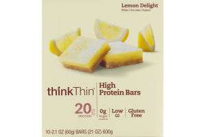 thinkThin High Protein Bars Lemon Delight - 10 CT