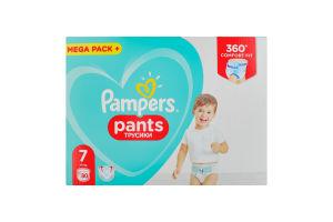 Подгузники-трусики для детей одноразовые 17кг+ 7 Pants Pampers 80шт