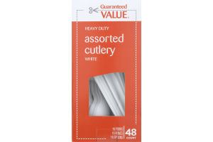 Guaranteed Value Heavy Duty Assorted Cutlery White - 48 CT