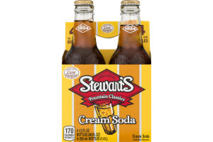 Stewart's Cream Soda - 4 PK