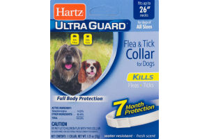 Hartz Ultra Guard Flea & Tick Collar for Dogs 7 Month Protection