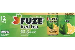 Fuze Iced Tea Half Tea Half Lemonade - 12 PK
