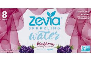Zevia Sparkling Water Blackberry - 8 CT