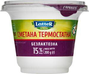 Сметана 15% безлактозна Latter ст 200г