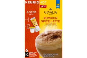 Gevalia Kaffe K-Cup Pods & Latte Froth Pumpkin Spice Latte - 6 CT