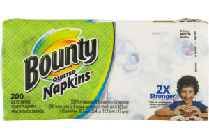 Bounty Napkins Quilted - 200 CT