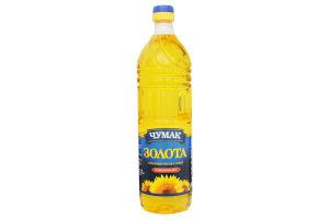 Масло подсолнечное рафинированное Золотое Чумак п/бут 1л