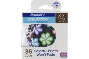 Reynolds StayBrite Baking Cups Flowers - 36 CT