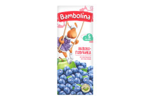 Нектар Bambolina Яблуко-лохина 5міс+ 0,2л х27