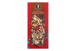Шоколад чорний з цукатами та малиною Shoud'e к/у 100г
