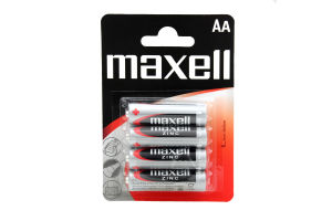 Батарейки АА R6 Zinc Maxell 4шт