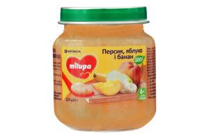 Пюре фруктовое для детей от 6мес Персик, яблоко и банан Milupa с/б 125г