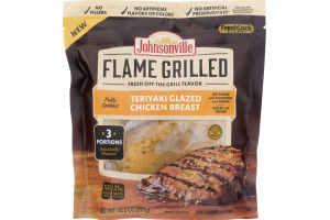 Johnsonville Flame Grilled Chicken Breast Teriyaki Glazed - 3 CT