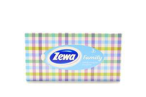 Платочки бумажные 20.8х20см 3-х слойные Family Zewa 90шт