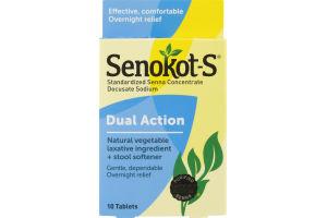 Senokot-S Laxative Plus Stool Softener Tablets - 10 CT