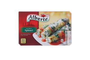 Изделие макаронное замороженное с сырной начинкой из шпината с грибами и соусом Cannelloni Alberto к/у 400г