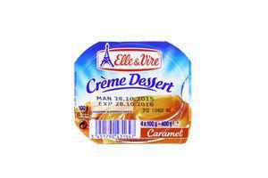 Десерт Elle&Vire карамельний з вершками 100г Франція