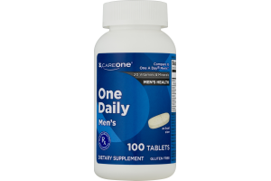 CareOne One Daily Men's Dietary Supplement Tablets - 100 CT