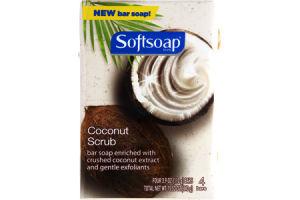 Softsoap Coconut Scrub Bar Soap- 4 PK