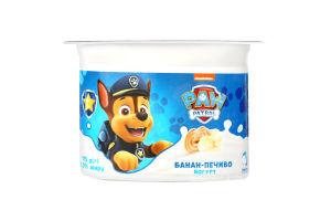 Йогурт 2% Банан-Печенье Paw Patrol Danone п/ст 115г