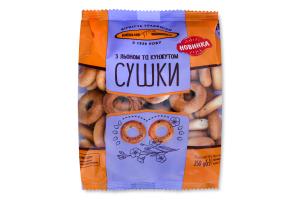 Сушки з льоном та кунжутом Київхліб м/у 250г