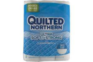 Quilted Northern Ultra Soft & Strong With Clean Stretch Unscented Bathroom Tissue - 24 CT