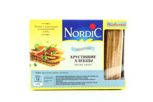 Хлебцы хрустящие из злаков пшеничные Nordic 100г