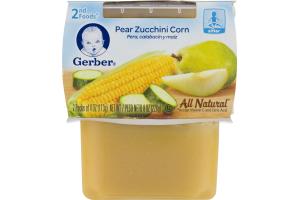 Geber Pear Zucchini Corn 2nd Foods