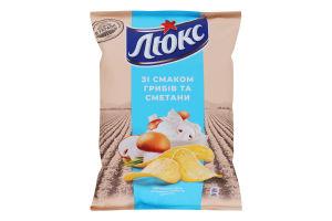 Чипсы картофельные Грибы и сметана Люкс м/у 71г