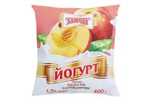 Йогурт 1.5% Персик Злагода м/у 400г