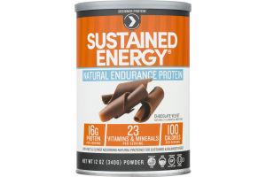 Designer Protein Sustained Energy Natural Endurance Protein Powder Chocolate Velvet