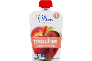 Plum Organics Organic Baby Food Just Peaches