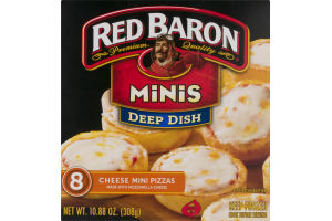 Red Baron Deep Dish Minis Cheese Pizzas - 8 CT